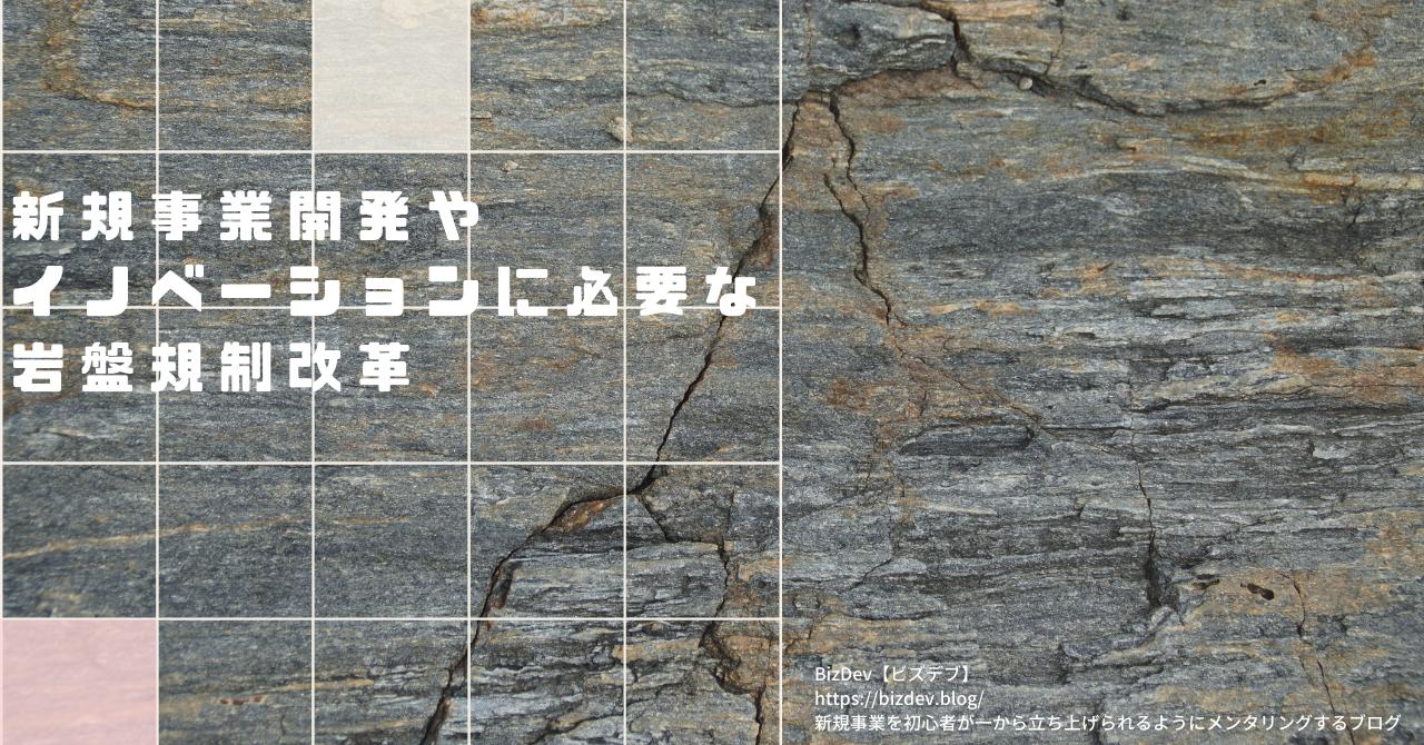 新規事業を阻む岩盤規制の解説